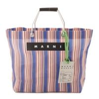 18AW マルニマーケット ストライプ ショッピング トートバッグ