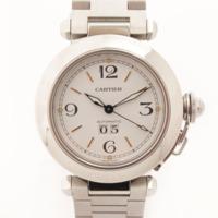 パシャC ビッグデイト 腕時計 W31055M7 ホワイト×シルバー
