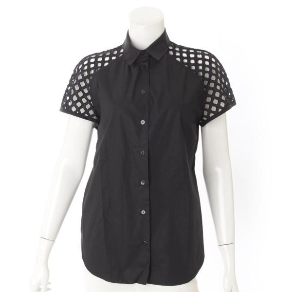 半袖 シャツ ブラウス ブラック 36