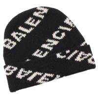 18AW ロゴ ビーニー ニットキャップ ニット帽 534447 ブラック