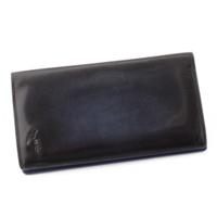EBENE エベネ シューズ型押し レザー 二つ折り長財布 ブルー