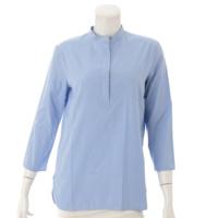 コットン 長袖 シャツ ブルー 36