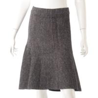フレア スカート ブラック×ホワイト