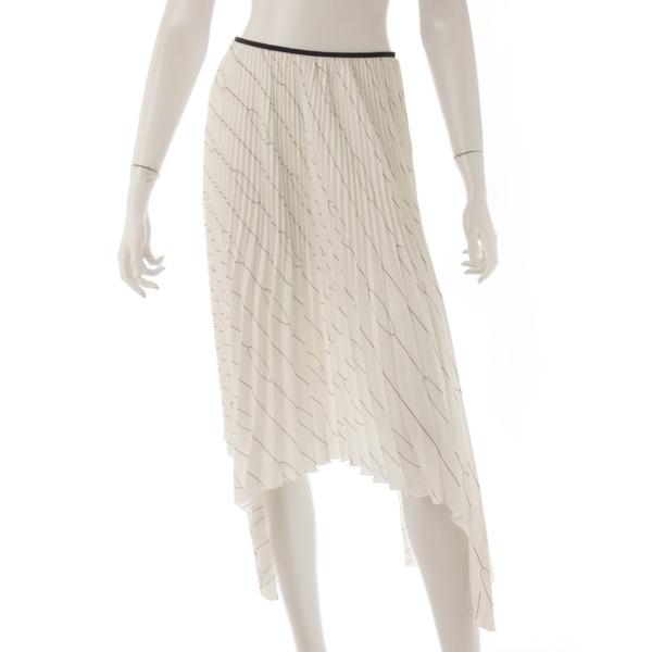 52acd2883508 セリーヌ(Celine) シルク プリーツ イレギュラーヘム スカート ホワイト ...