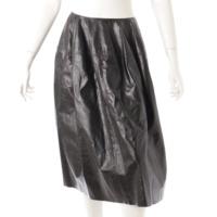 ラムレザー フレアスカート ブラック 36
