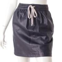 レザー スカート ネイビー 34