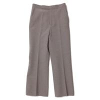 シルク ウール センタープレス パンツ グレー 36