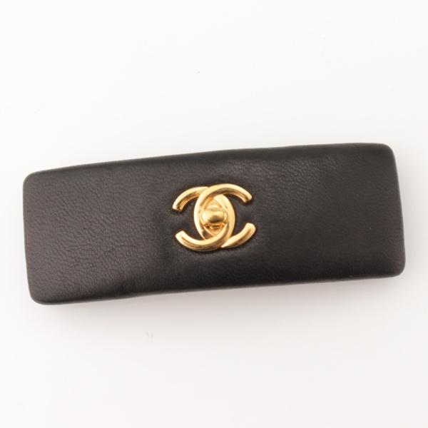 7de8bee7af45 シャネル(Chanel) ココマーク レザー バレッタ ブラック 中古 通販 retro ...