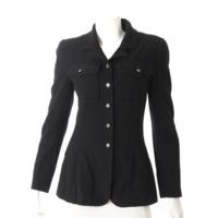 95A ウール シャツ ジャケット P05727 ブラック 38