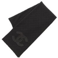 ココマーク ダイヤステッチ ウール マフラー 05A ブラック