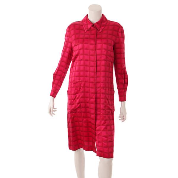ココマーク シルク シャツ ワンピース 00A ピンク