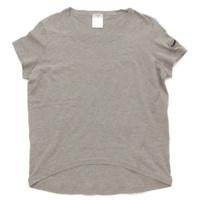 07P 袖ビーズ Tシャツ カットソー グレー 46