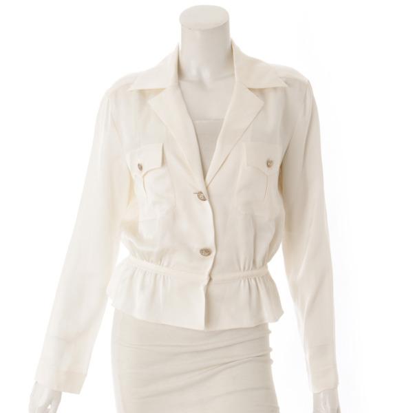 14A シルク シャツジャケット P49419 ベージュ 38