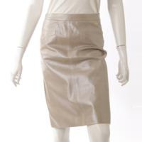 ラムレザー スカート 05A グレー ゴールド