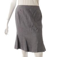 ココマーク ウール マーメイド スカート 05C グレー