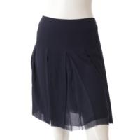 10P ココマークボタン シルク スカート ネイビー 38