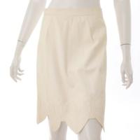 09C ココマーク レザー スカート P34783 ホワイト 40