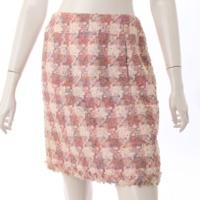 04P ツイード スカート P23595 ピンク 38