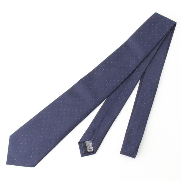 ココマーク ドット シルク ネクタイ ブルー