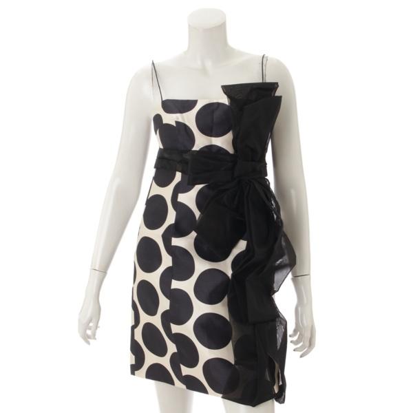 水玉 リボン ドレス ワンピース 36