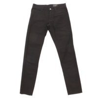 刺繍 デニム パンツ ブラック 46