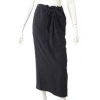 ロング 巻きスカート ブラック S
