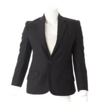 ウール テーラードジャケット ブラック 36