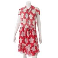 花柄 ドレス ワンピース レッド 40