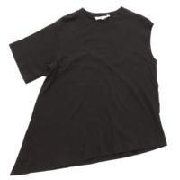 アシンメトリー Tシャツ カットソー トップス ブラック 38