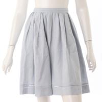 リネンフレア スカート 35575 ライトブルー 38