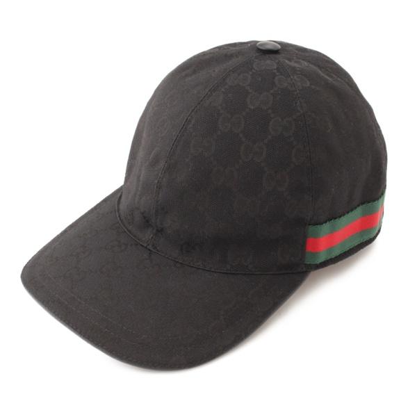 オリジナルGGキャンバス ベースボール キャップ 帽子 ブラック 58