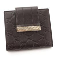 グッチシマ レザー 二つ折り 財布 181669 ダークブラウン