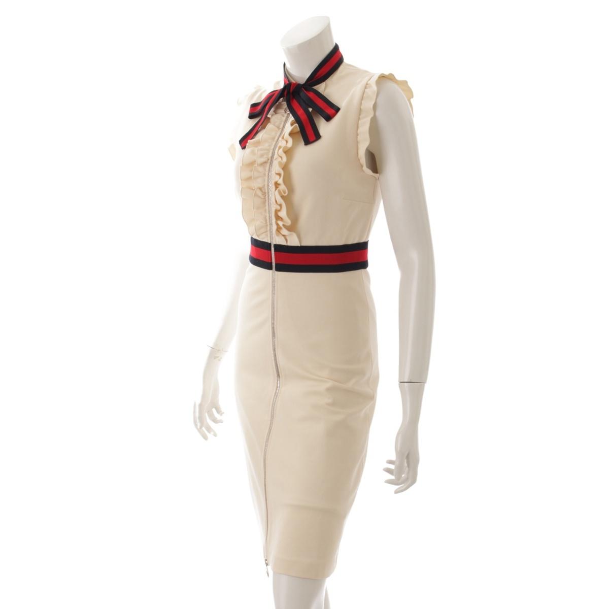 9c2ee14614d8 グッチ(Gucci) 17AW ウェブトリム ジャージー ドレス ワンピース 434249 ...