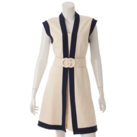 18SS GGベルト付き ジャージー ドレス ワンピース 515533 ホワイト XS