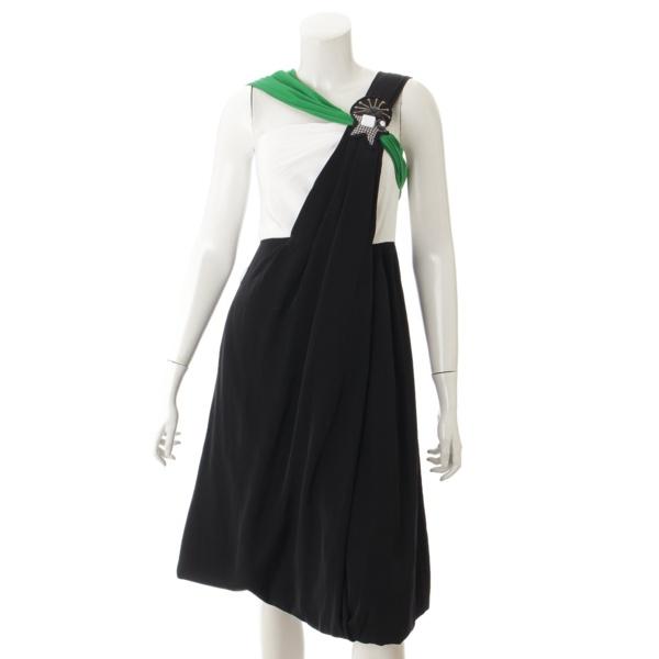 ワンピース ブラック ホワイト グリーン 38