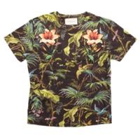 パッチ付き 半袖 カットソー Tシャツ トップス 422731 ブラック