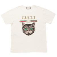 18SS ミスティックキャット ロゴ Tシャツ 492347 ホワイト L