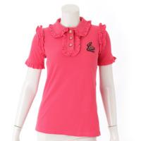 17SS スネーク フリル ポロシャツ 457089 ピンク XS