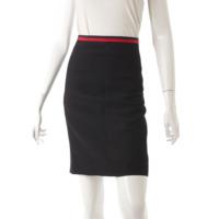 ハイライズ ストレート スカート 498067 ブラック