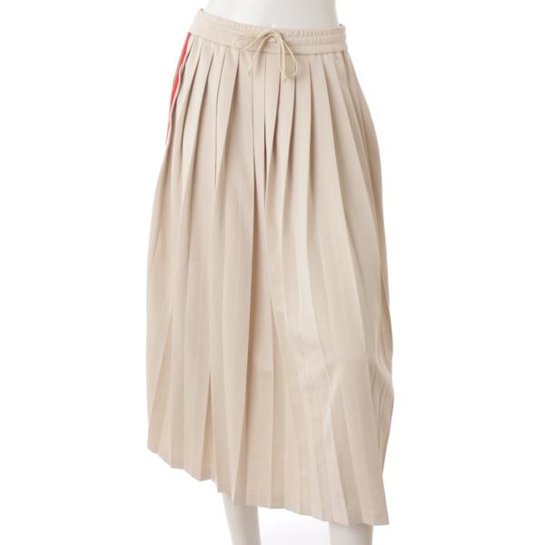 19SS プリーツ リボン シェリーライン スカート 526523 ベージュ XS