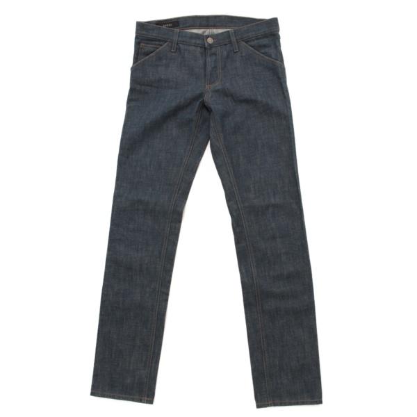 メンズ ボタンフライ デニム パンツ ジーンズ ブルー 44