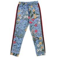 17AW テクニカルジャージー 花柄 ジョギングパンツ ボトムス 479532 ブルー XS