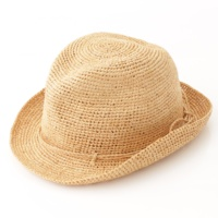 ラフィアハット 帽子 ナチュラル M