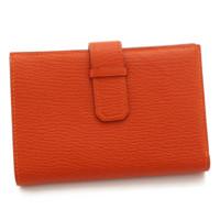 ジュラ シェーブル 二つ折り財布 □G刻 オレンジ