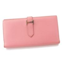ベアンスフレ エプソン 二つ折り 長財布 □R刻 ピンク ローズ