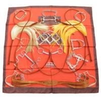 カレ90 シルクスカーフ PROJETS CARRES プロジェクト レッド