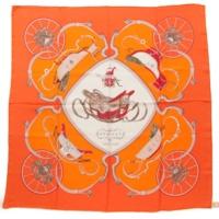 カレ90 シルクスカーフ SPRINGS スプリングス オレンジ