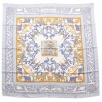 カレ90 シルクスカーフ EARLY AMERICA 古き良きアメリカ ブルー