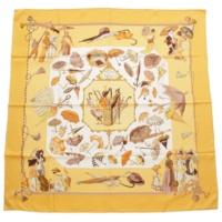 カレ90 シルクスカーフ OMBRELLES ET PARAPLUTES 日傘と雨傘 イエロー