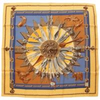 カレ90 シルクスカーフ CUILLERS D'AFRIQUE アフリカのスプーン イエロー